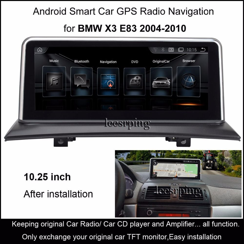 android car radio stereo for bmw x3 e83 2004 2010 intelligence car multimedia. Black Bedroom Furniture Sets. Home Design Ideas