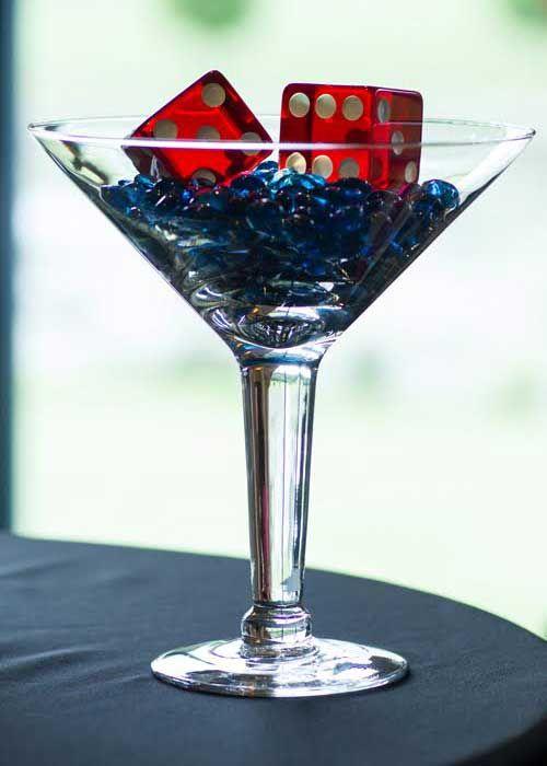 James Bond Party Decor Martini Glass Dice James Bond Party