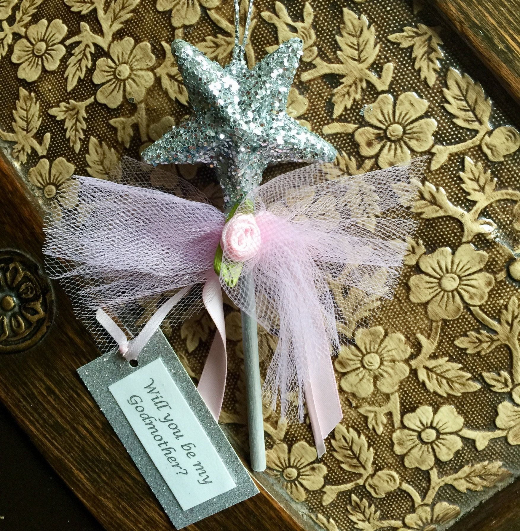 Godmother request proposal hanging wand fairy birthday