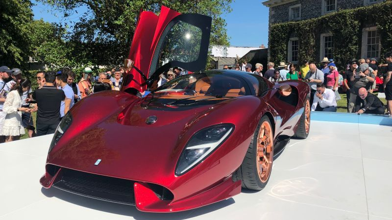 The De Tomaso P72 Is a Stunning Throwback Supercar With a