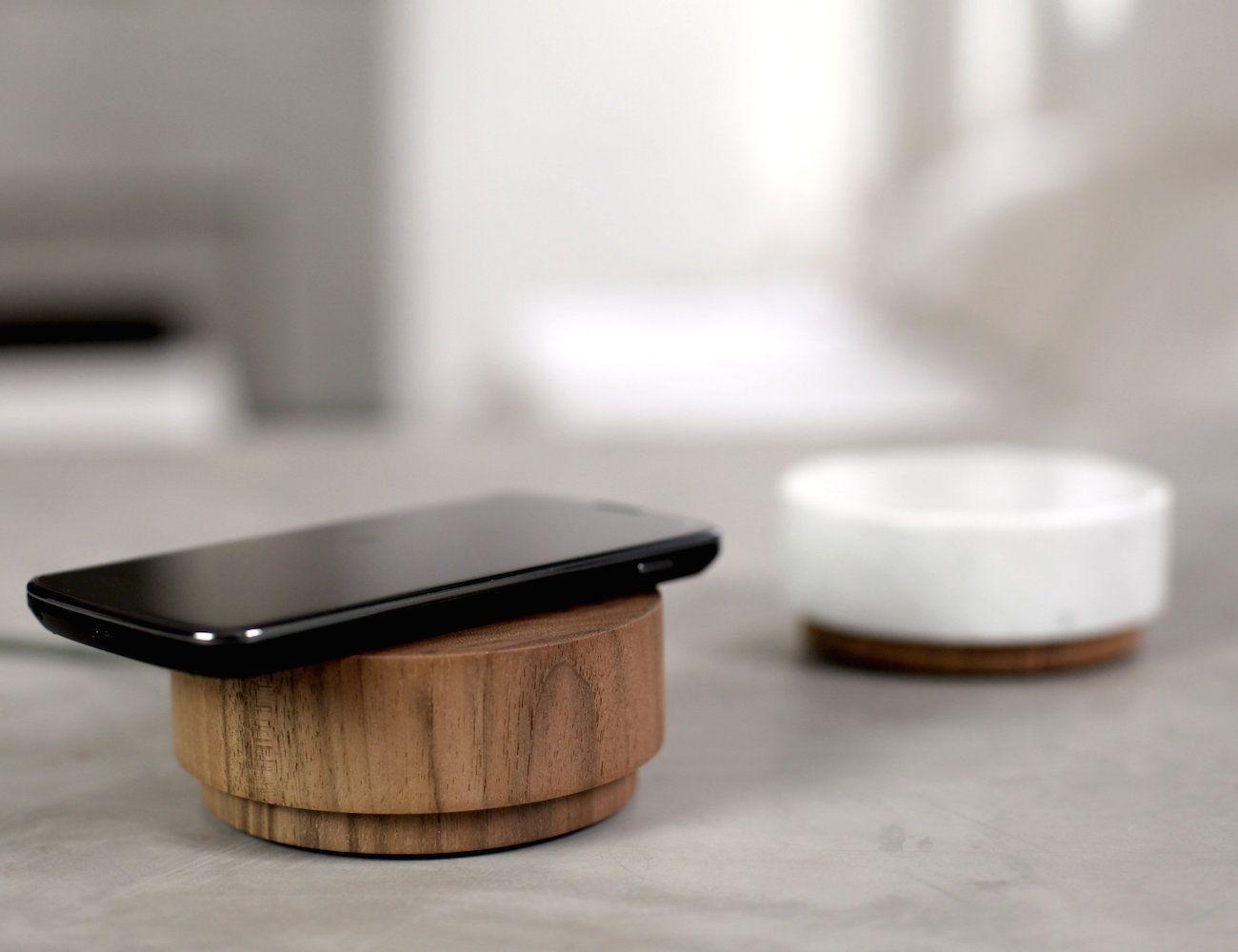 Pebble 2 #WirelessCharging Pad & #Speakers  Beautiful wooden design for your #workspace!