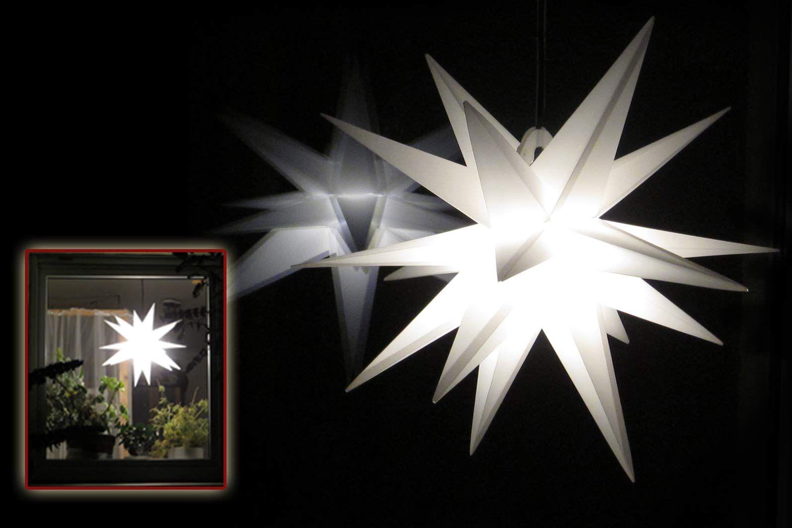 Beleuchtung Herrnhuter Stern Batterie Beleuchtet Außen.
