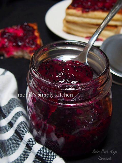 Selai Buah Naga Homemade Monic S Simply Kitchen Makanan Dan Minuman Ide Makanan Selai