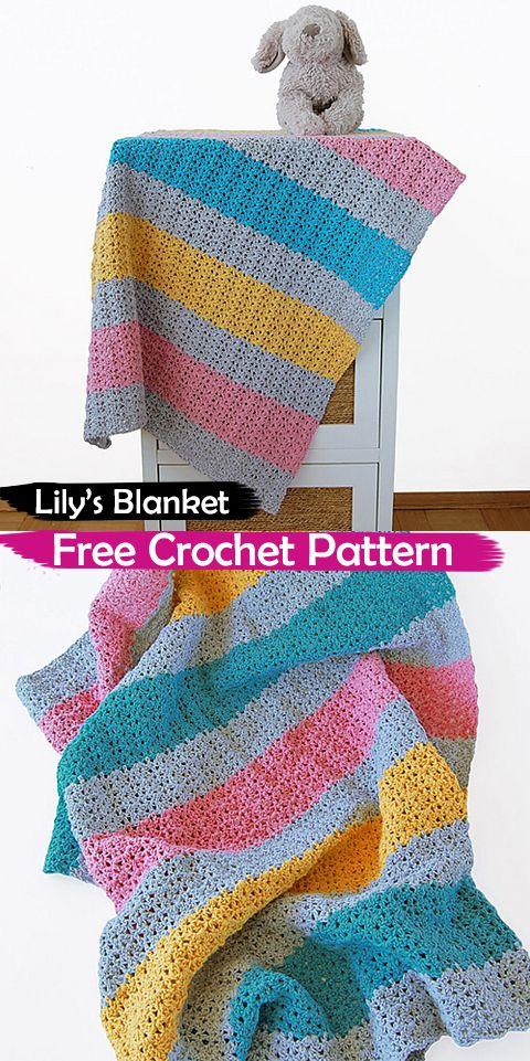 Lilys Blanket Free Crochet Pattern Crochet Crafts Homedecor