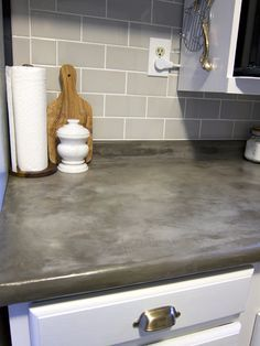 Part One Of Our Four Part Series On Our Kitchen DIY: Concrete Countertop  Resurfacing Is An Easy And CHEAP Way To Update The Look Of Your Kitchen.