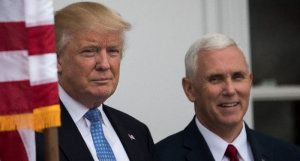 President-elect Donald Trump (L) and vice president-elect Mike Pence will visit an air conditioning plant in Indiana which he repeatedly leaned on in public not to ship a planned 2,000 jobs to Mexico (AFP Photo/Drew Angerer)