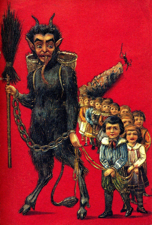 Santa S Demon Sidekick Krampus Ahhh Germany Krampus Krampus Movie Creepy Christmas