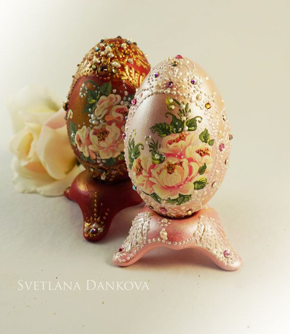 Easter Egg Ceramic Egg Hand painted by LaivaArt on Etsy