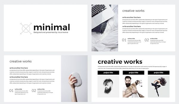 Create Stylish, Professional Presentations With This Minimal PowerPoint Template - DesignTAXI.com