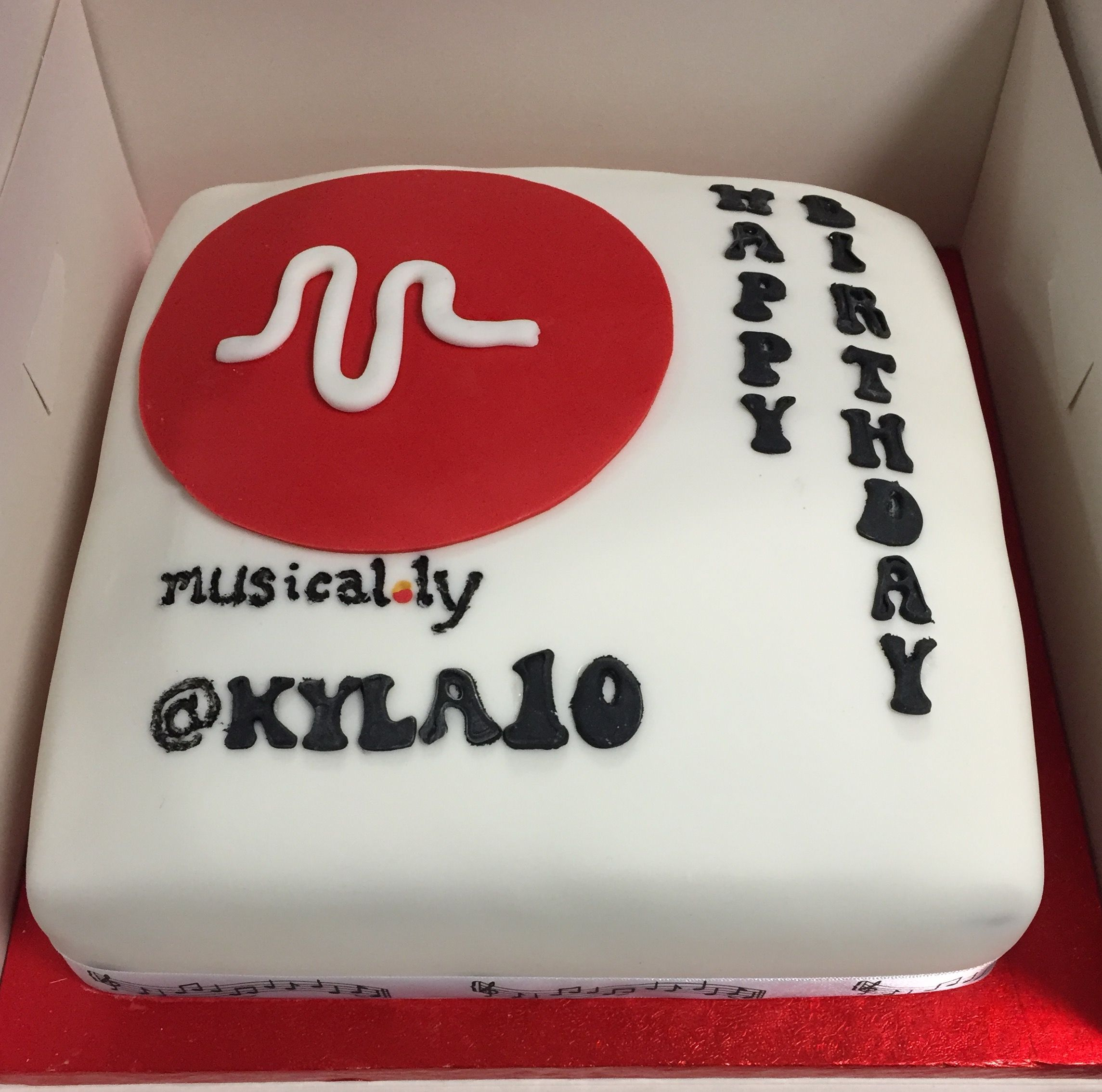 Musical Ly Birthday Cake