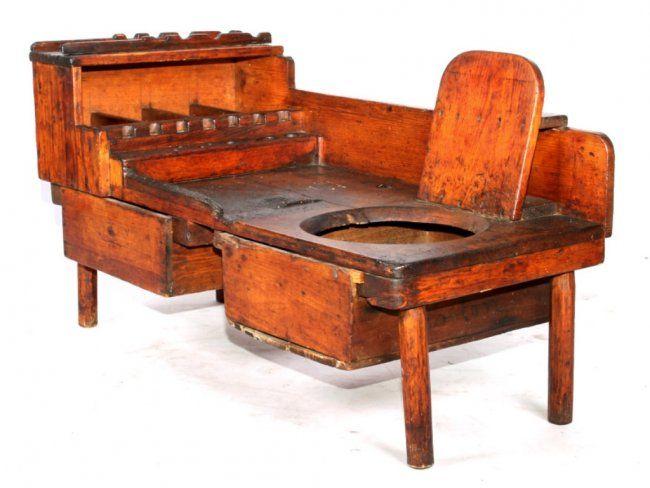Primitive Chamber Pot Chair & Work Bench - Primitive Chamber Pot Chair & Work Bench Furniture Pinterest