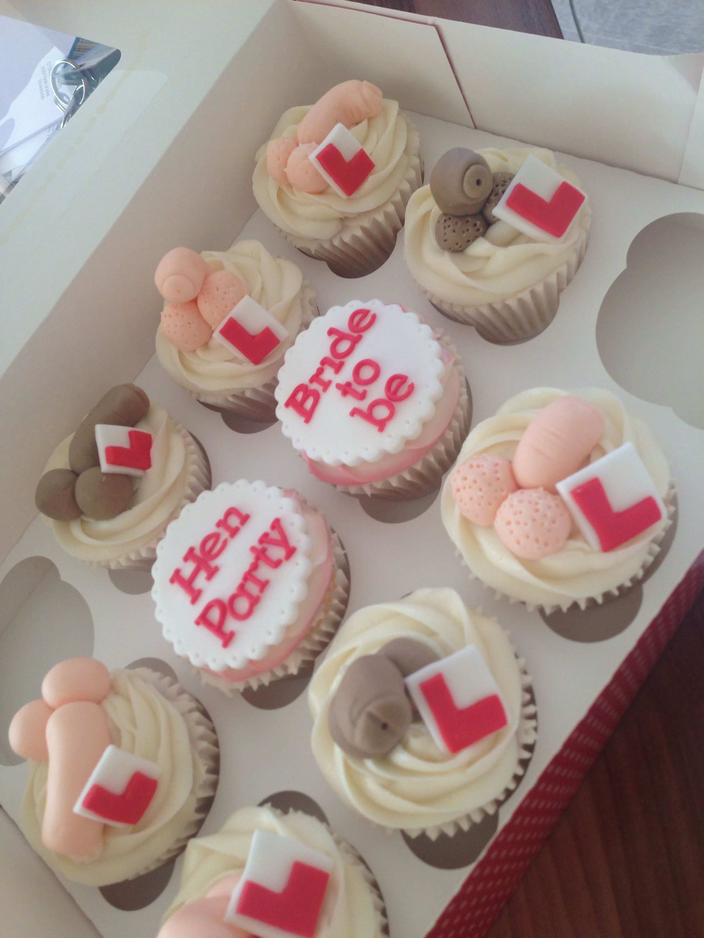 Hen Party Cupcakes Rude Willies