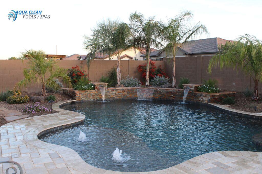 Best Pool Builders In Phoenix Az Backyard Pool Landscaping Pool Water Features Backyard Pool Designs