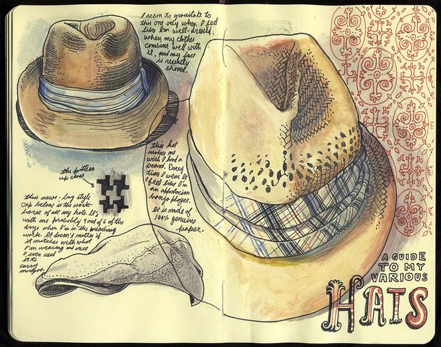 Hats.    These sketchbooks by this Flickr user amaze me!    35 by Sketchbuch, via Flickr