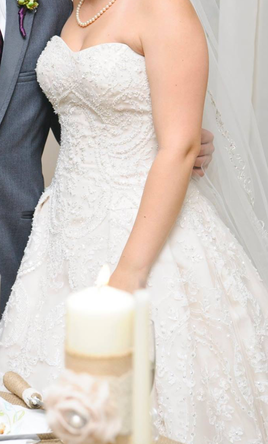Oleg Cassini Cwg635 Wedding Dress Used Size 6 750 Wedding