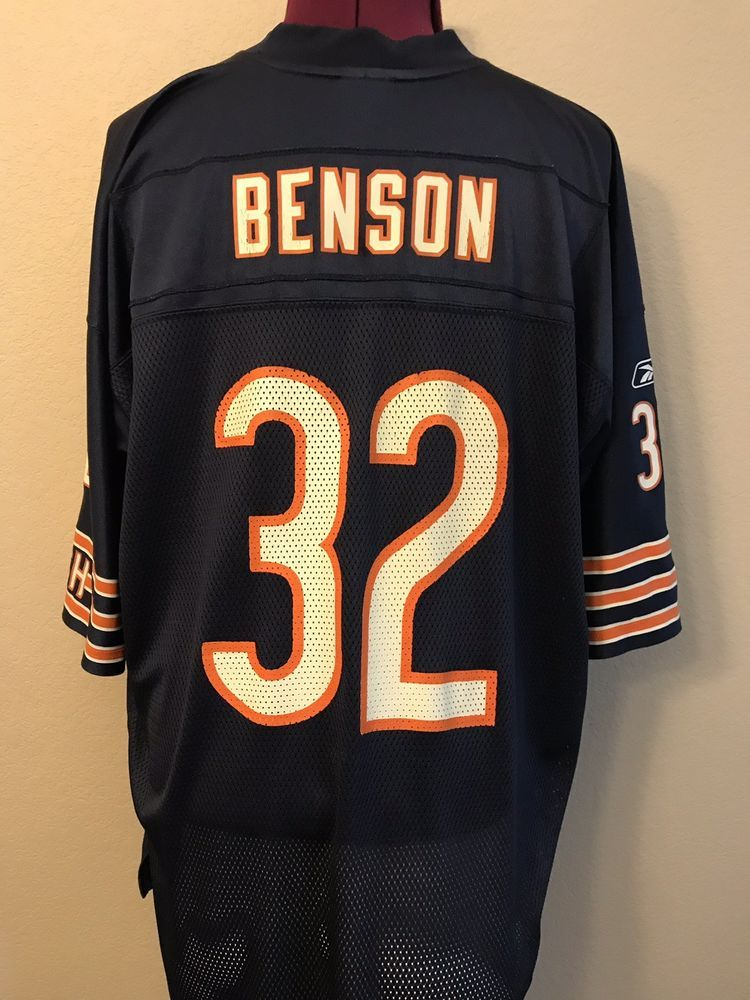 quality design 848cd 87a1a Chicago Bears #32 Cedric Benson 2XL Jersey Men's Size XXL ...