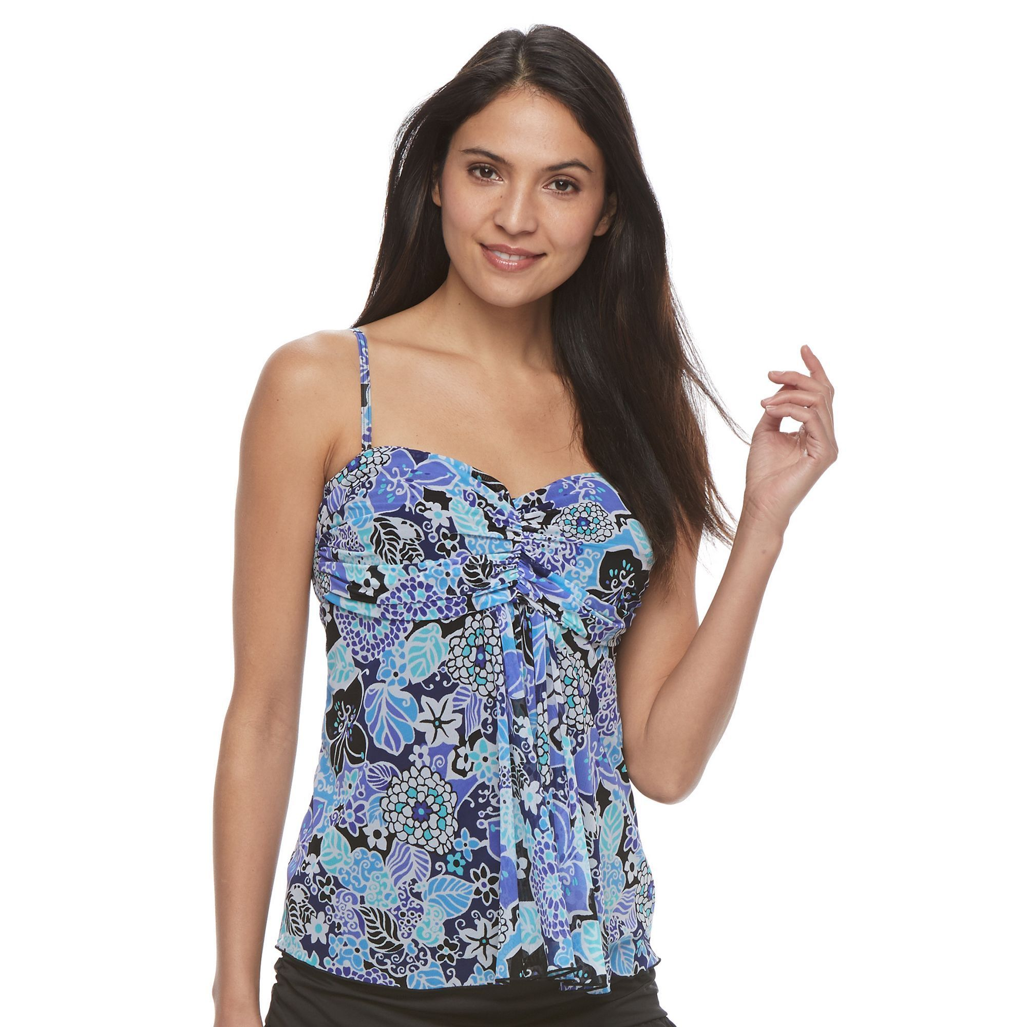 big sale online cheap outlet store Women's A Shore Fit Tummy ... Slimmer Mesh Tankini Top browse cheap price footlocker for sale t47dqXfo