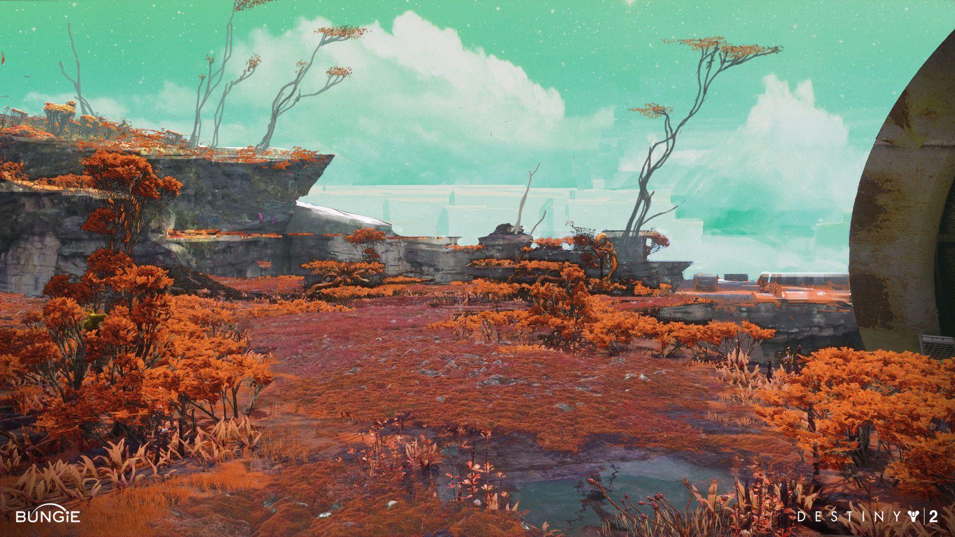 Artstation Destiny 2 Nessus Sketches Dorje Bellbrook Scifi