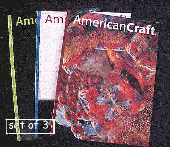 American Craft Magazine Jewelry Craft Magazines Set Of 3 10 50