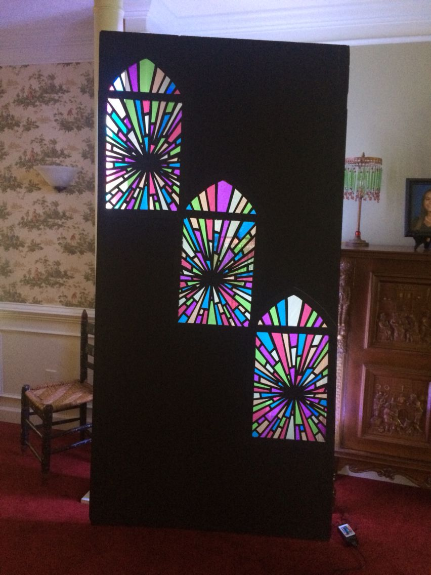 my next church mini stage set inch insulation foam board black poster board cellophane in 6 colors and backlit with an led light strip