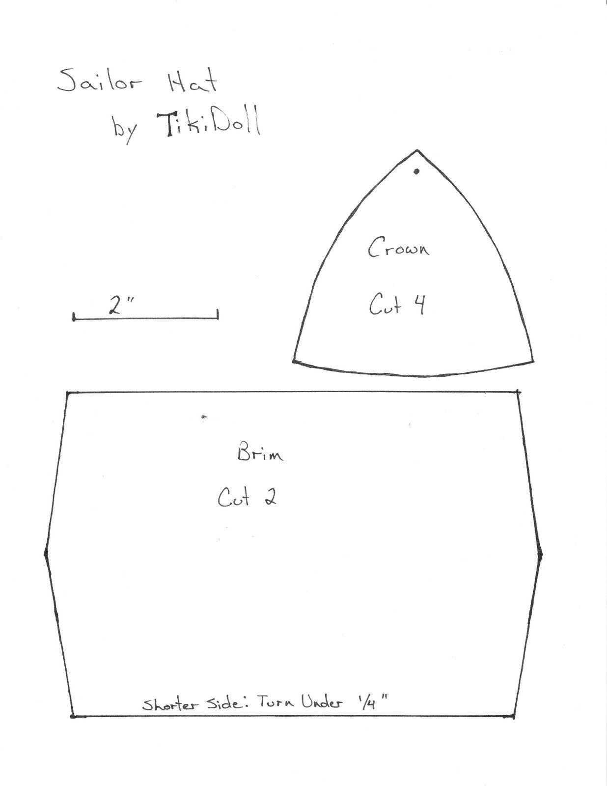 Cmo hacer un sombrero de marinero redondo 2 ideas bonitas tikidoll dance sailor hat pattern and instructions jeuxipadfo Choice Image