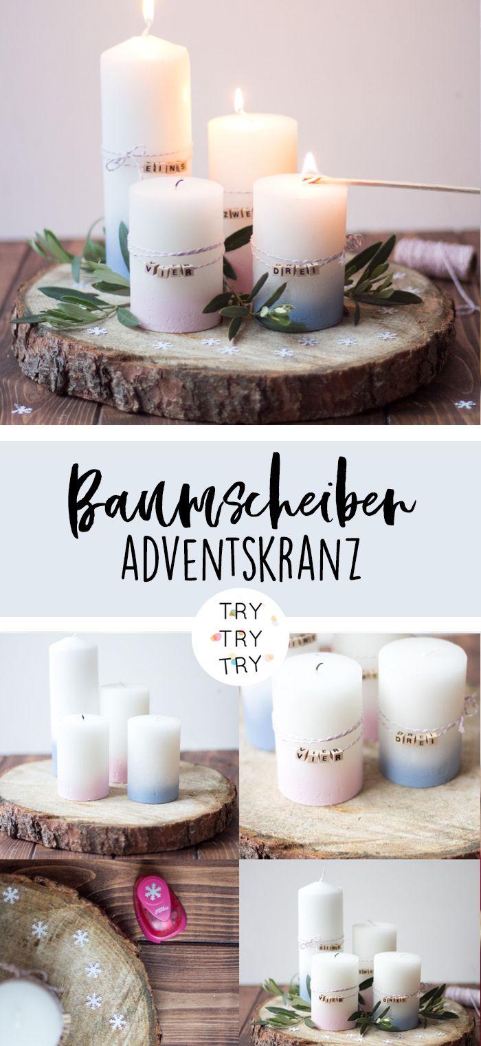 Photo of Adventskranz // Baumscheiben Adventskranz // Natur Adventskranz // Adventskranz …