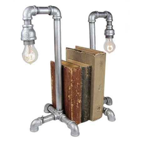 I pinned this Pipe Bookend Lamp (Set of 2) from the Steampunk Lounge event at Joss and Main!