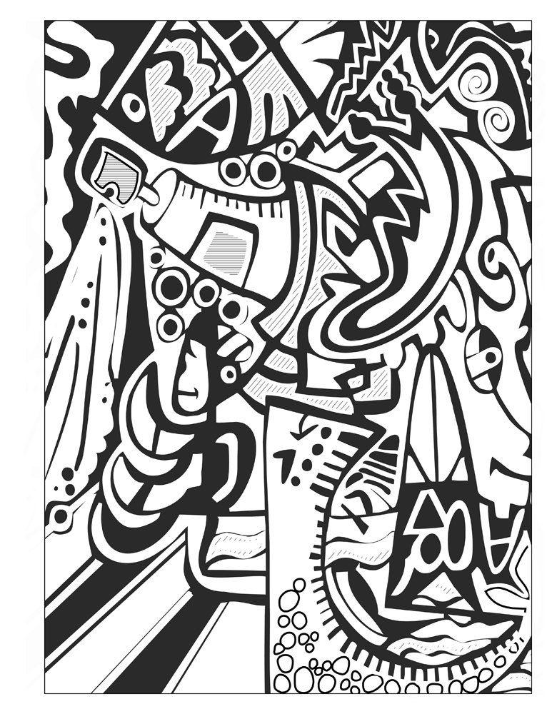 Amazon.com: Graffiti - Coloring Book for Adults (9780997571431): Donna Duchek: Books