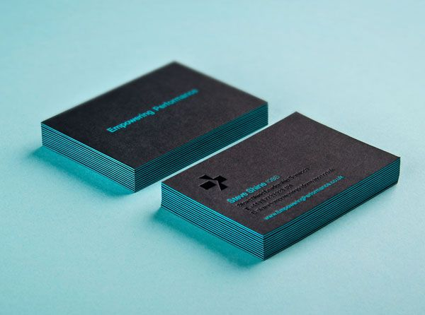 Triplex business card with deboss foil detail designed by Analogue for management professional Steve Shine.