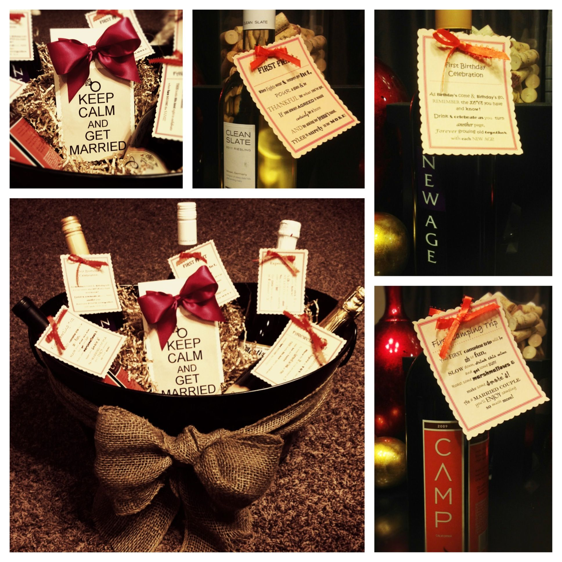 Best Wine For Wedding Gift: Wine Basket Gift For A Bridal Shower