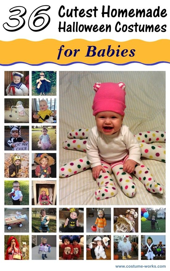 36 Cutest Homemade Halloween Costumes for Babies Homemade - diy infant halloween costume ideas