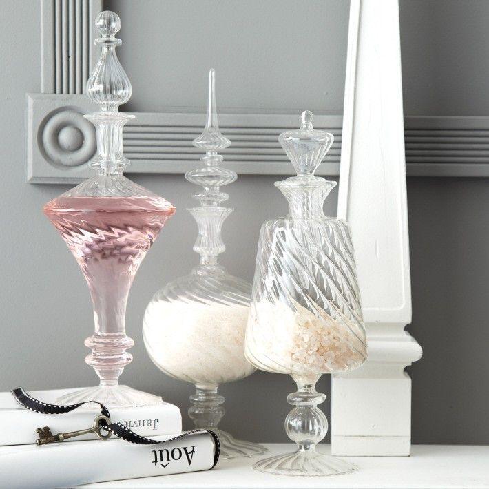 Hand-Blown Glass Decanters - Set of 3 - Bachelorette Party Ideas