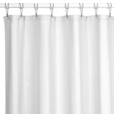 Westerly White 54 Inch X 78 Inch Shower Stall Curtain