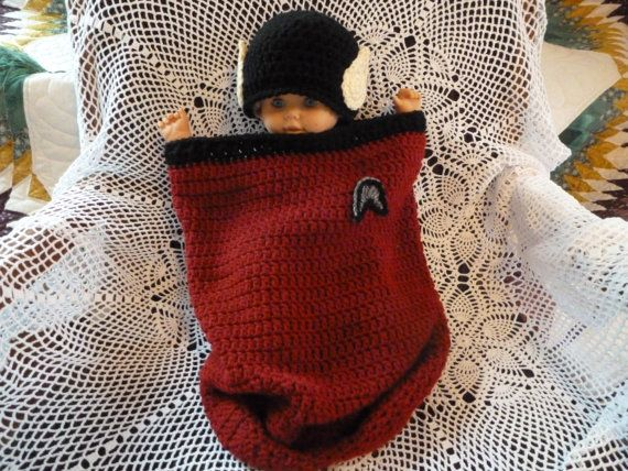 Crochet Spock Star Trek Infant Cocoon by IAmLivingTheDream on Etsy ...