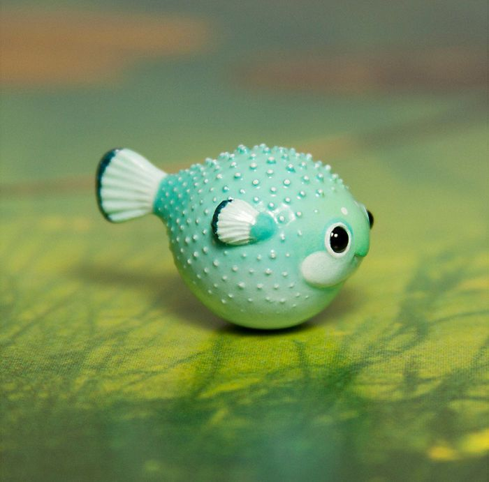 Tiny Animal Sculptures That I Create From Polymer Clay | Perlen ...