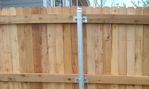 Metal Fence Posts Wood Fence Post Options Metal Fence Posts | Fence