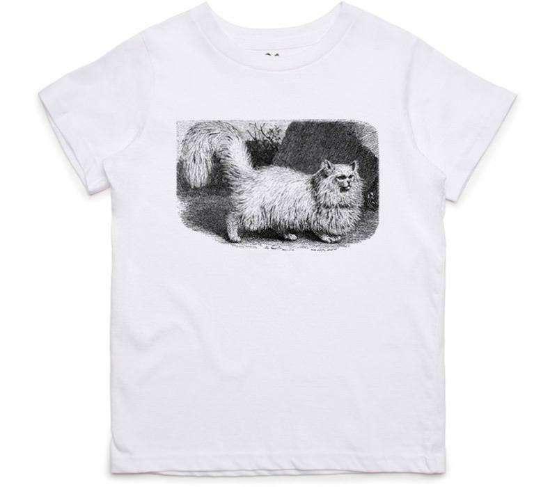El Cheapo Fluffy Kitten (Black) Toddler White T-Shirt