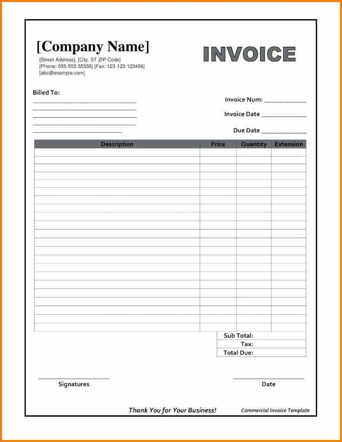 Pin by Howard Jian on Invoice template word Pinterest Invoice