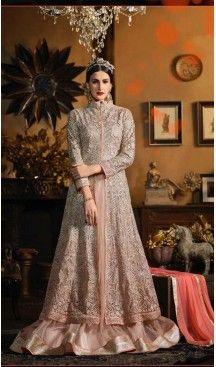 09b075de12 Mistyrose Color Net Long Pakistani Style Designer Lehenga Kameez |  FH534980810 @heenastyle < #Salwarsuit #Longsalwarsuit #Designersalwarsuit  #Partyweardress ...