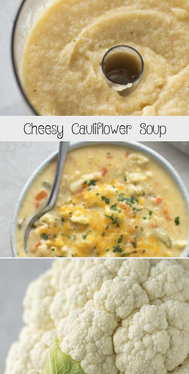 Easy, cheesy cauliflower soup is packed full of veggies and ready to go in just 45 minutes. This de