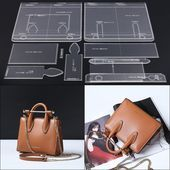 Photo of US $ 36.72 40% OFF   Leather handmade craft women shoulder bag sewing pattern acrylic …