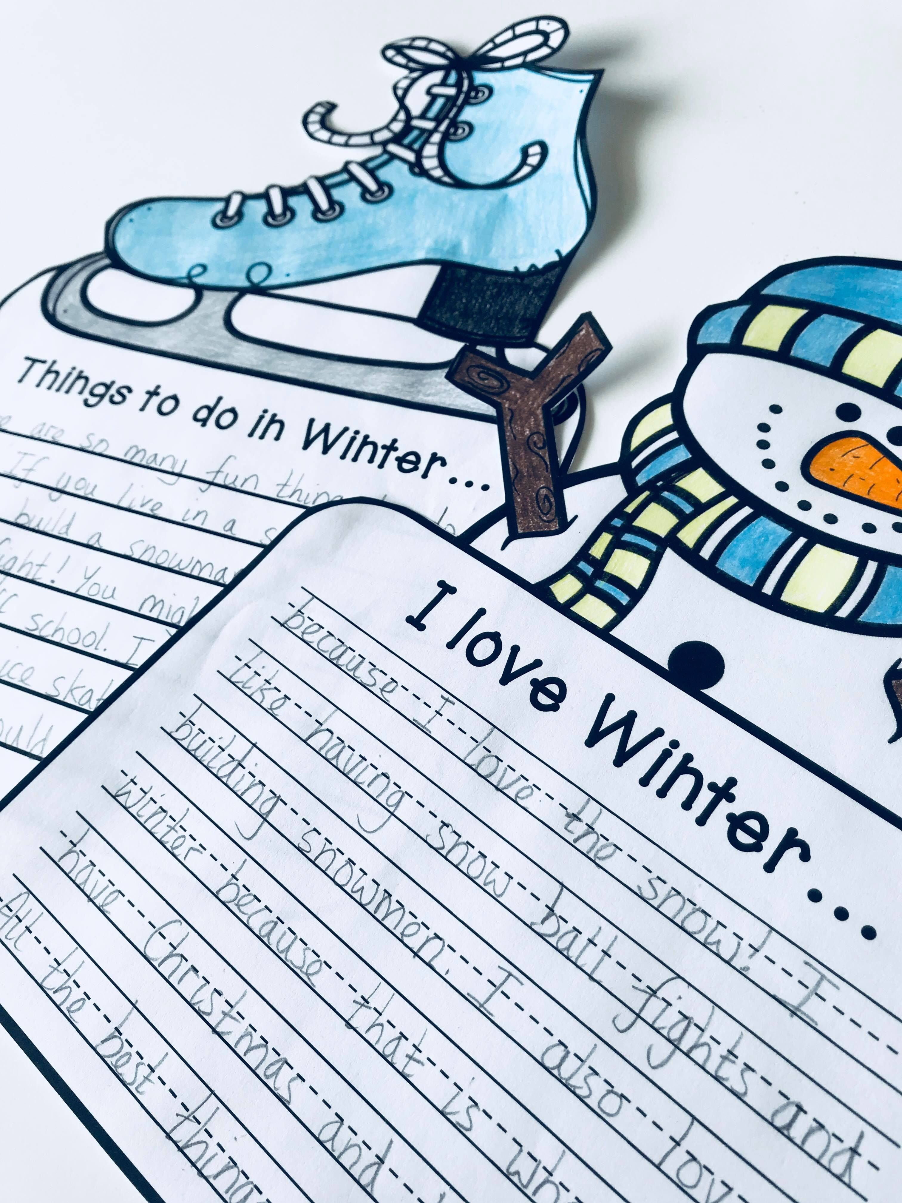 Winter Craftivity 3 No Prep Writing Prompts Amp Crafts In