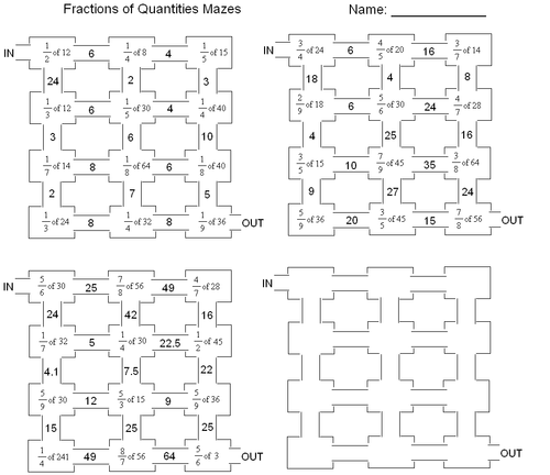 Multiple-choice fractions of amounts questions disguised in a more ...