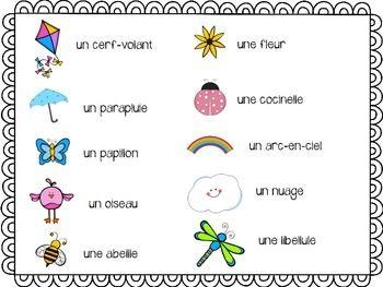french spring le printemps file folder word wall vocabulary french vocabulary french file. Black Bedroom Furniture Sets. Home Design Ideas