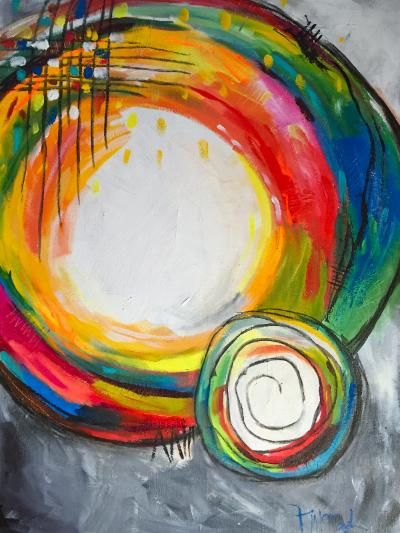 Creative Orbit Abstract Abstracto Arte Pinturas