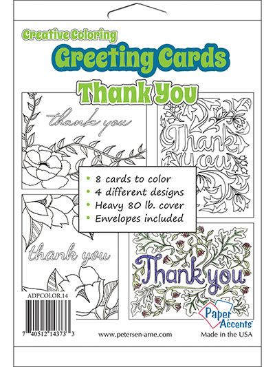 Creative Coloring Thinking Of You Greeting Cards Envelopes Thank You Greeting Cards Cards Envelopes Card Making Projects