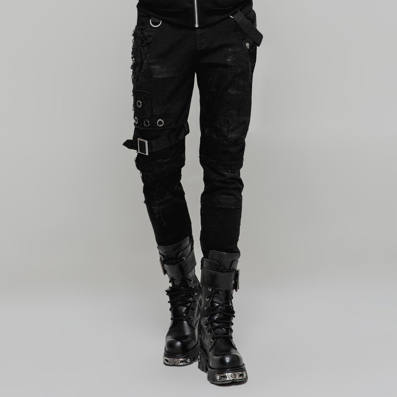 Gothic Style Slim Fit Hose Im Punk Vintage Look Gothic Mode Manner Kleidung Kleidung