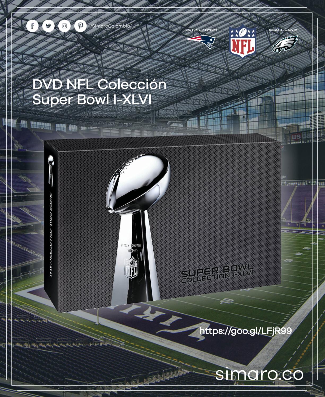 DVD NFL Colección Super Bowl I-XLVI 👉🏻 https://goo.gl/LFjR99 @SimaroColombia #NFL @NFL #SuperBowl @SuperBowl #BACKTOSCHOOLSIMARO2018 #SimaroColombia #Sale #EnvioGratis #BackToSchool2018 #RegresoAClases #School #SimaroCo 🇨🇴 #LoEncontramosPorTi #SimaroBr 🇧🇷 #SimaroMx 🇲🇽 #TiendaOnline #ECommerce #Novedades #Compras #Regalos #Descuentos