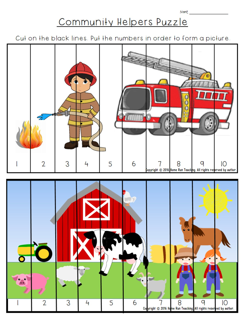 This Is Part Of A 135 Page Community Helpers Unit It Includes Math And Literacy Worksheet Community Helpers Community Helpers Unit Community Helpers Preschool [ 1056 x 816 Pixel ]