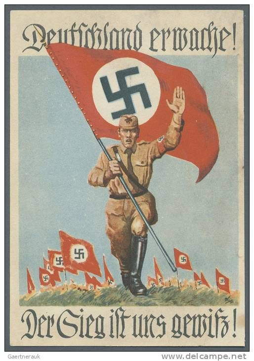 """WW2  1931, """"GERMANY AWAKE!""""  """"The victory is for us to win."""""""